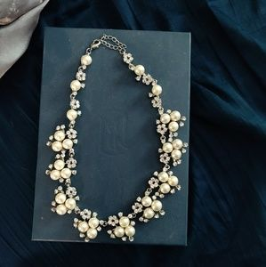 Necklace and Earring Set - Costume Pearls + Stones